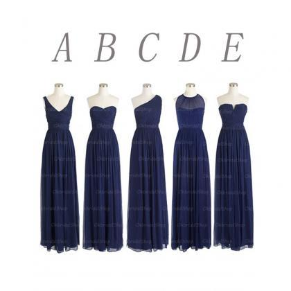cheap bridesmaid dresses, navy brid..
