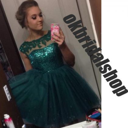 lace teal prom dresses, short prom ..