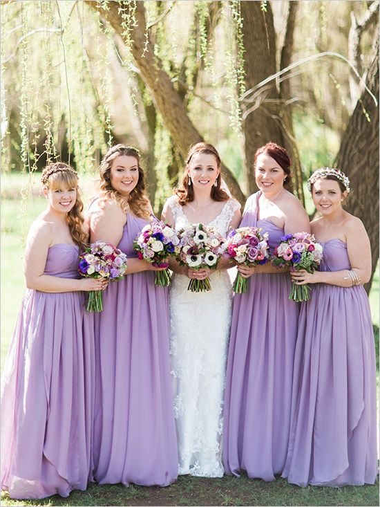Lilac Bridesmaid Dresses Chiffon Dress Long 2017 Bm013