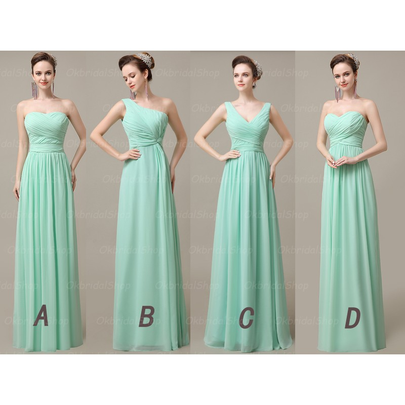 0d571ce0ae46a chiffon Bridesmaid Dresses, Mismatched Bridesmaid Dresses, Mint Green  Bridesmaid Dresses, Inexpensive Bridesmaid Dresses