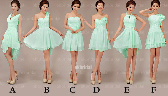 660cbf2cea0cd short Bridesmaid Dresses, Mismatched Bridesmaid Dresses, mint Bridesmaid  Dresses, cheap Bridesmaid Dresses,