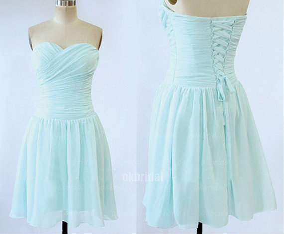 Turquoise Blue Short Bridesmaid Dresses