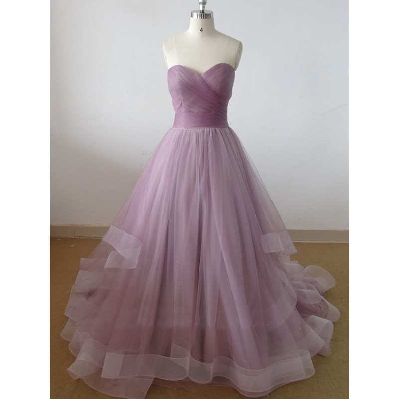 sweetheart tulle prom dress long prom dress cheap prom