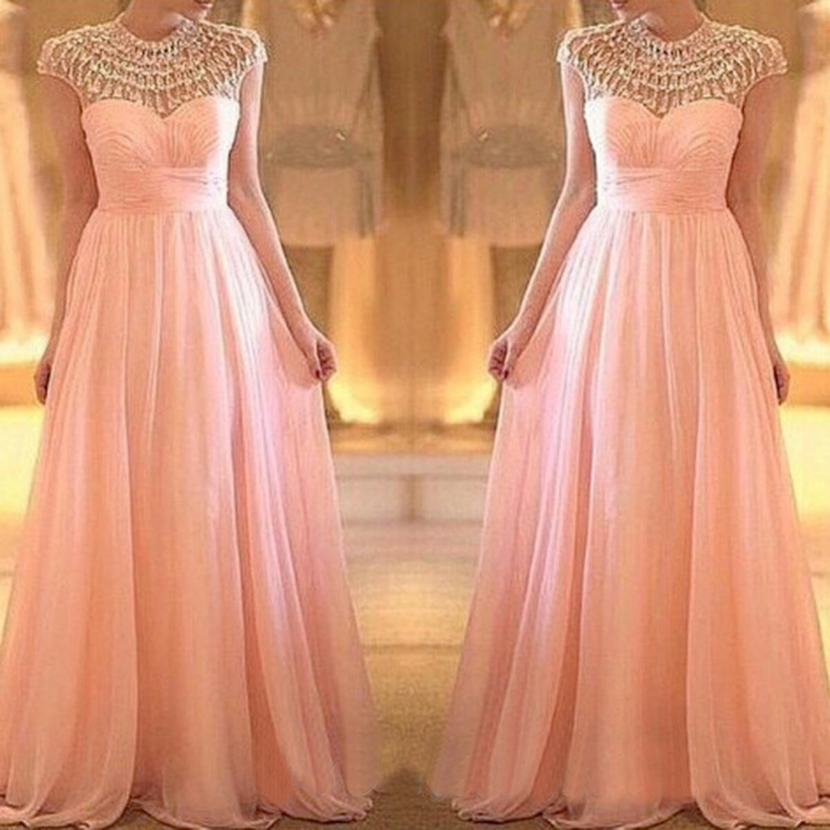 Modest Prom Dresses, Blush Pink Prom Dress, Long Prom Dresses ...
