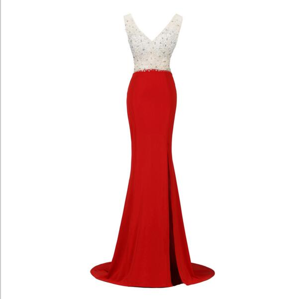 Red Prom Dresses, Off Shoulder Prom Dress, Mermaid Prom Dress, 2016 ...