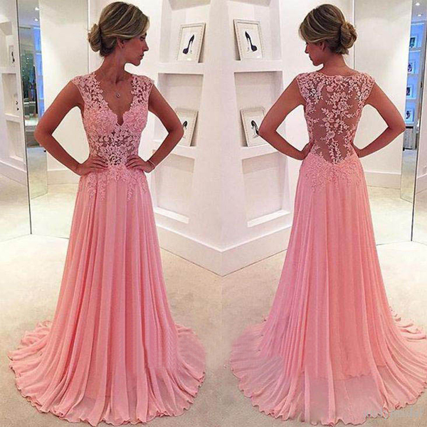 See Through Prom Dresses, Lace Prom Dress, Long Prom Dress, 2016 ...