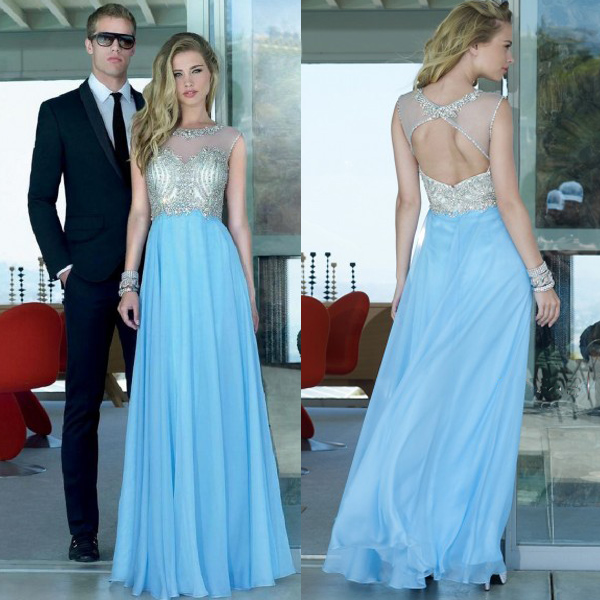 Bodess See through Prom Dresses