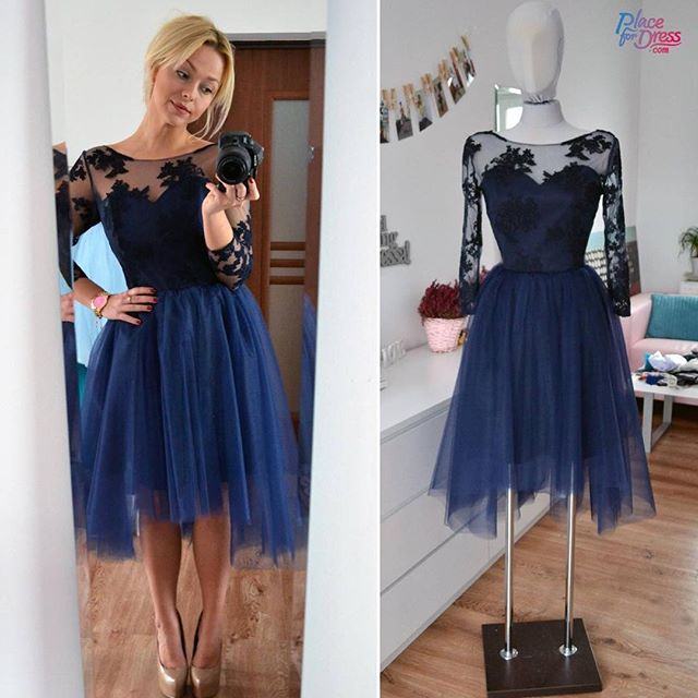 Short dress long lace over
