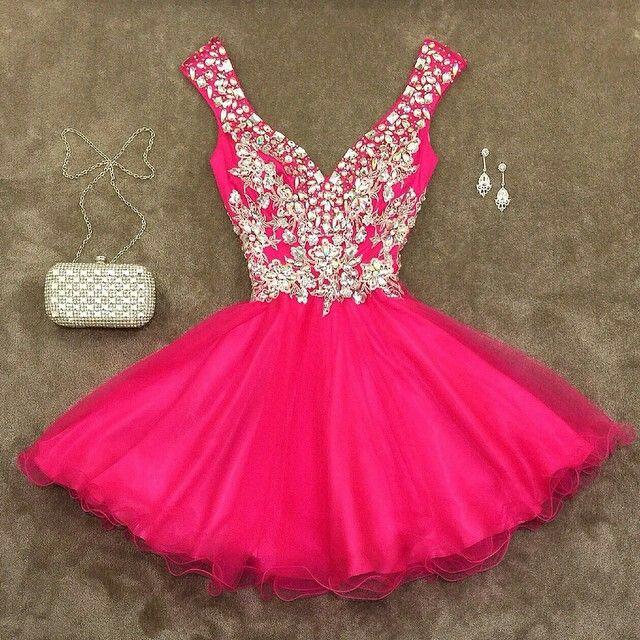 Hot Pink Graduation Dresses