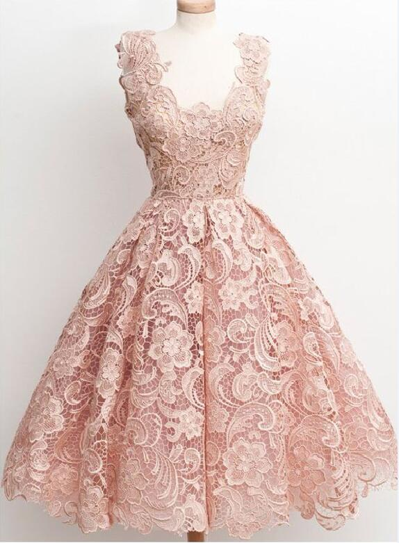 Off Shoulder Lace Homecoming Dress Peach Short Dresses 2016 Prom Cm1070