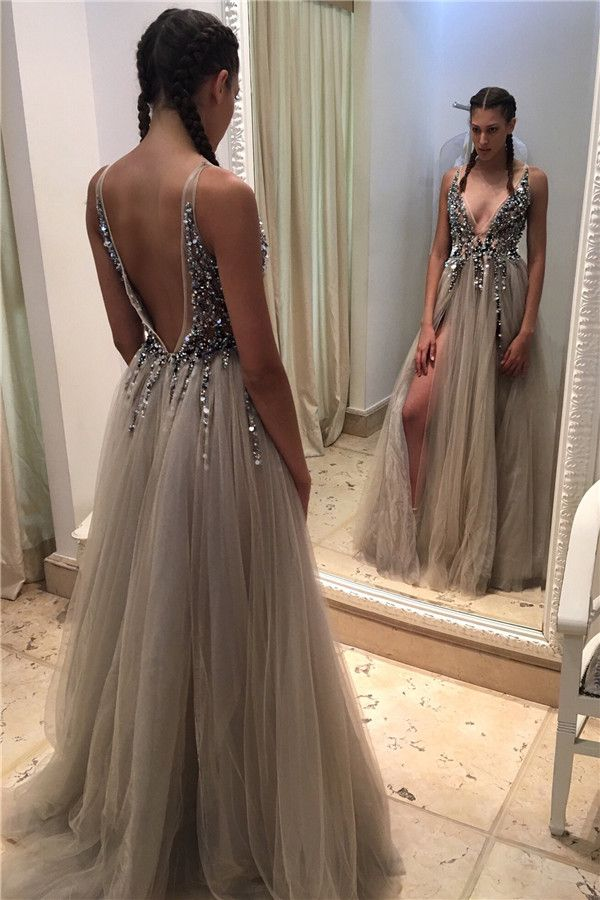 Sexy Backless Beaded Evening Prom Dresses b012b0b51