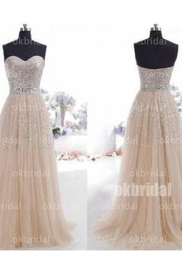 Tulle Prom Dress, Classic Prom Dress, Sparkly Prom Dress, 2016 Prom Dress, Formal Prom Dress, 17117