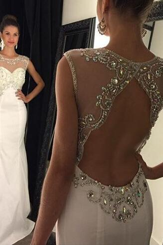 Open Back Mermaid Prom Dress, 2016 Backless prom Dress, Sexy Prom Dress, dresses for Prom, custom prom dresses 2016, cheap prom dresses, CM862