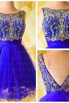 Blue homecoming dress, Backless homecoming dress, short homecoming dresses, 2016 homecoming dress, short prom dresses, homecoming dress, CM945
