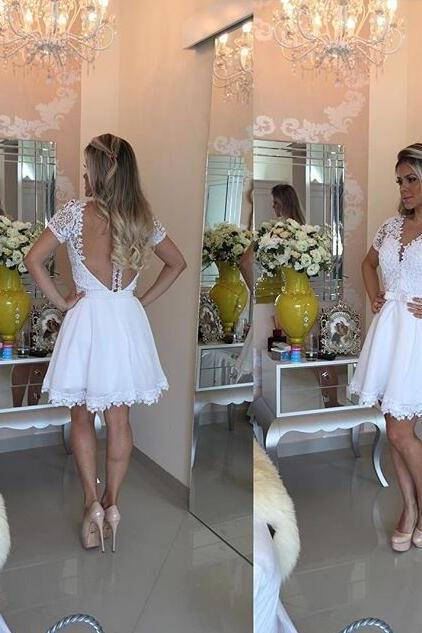 See through homecoming dress, sexy lace homecoming dress, short homecoming dresses, 2016 homecoming dress, short prom dresses, homecoming dress, CM955