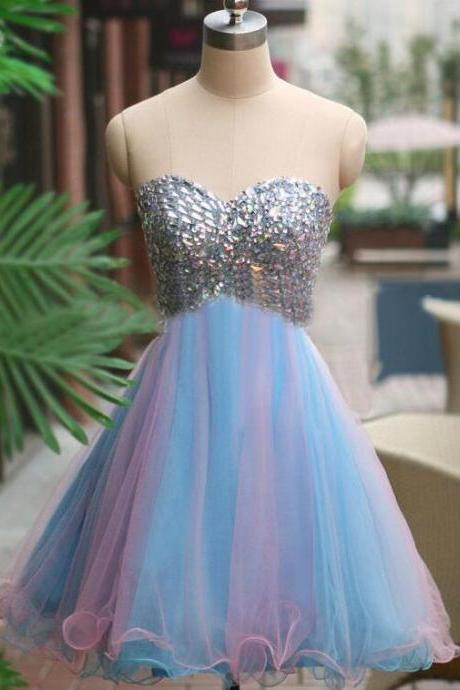 Rhinestone homecoming dress, backless homecoming dress, short homecoming dresses, 2016 homecoming dress, short prom dresses, homecoming dress, CM959
