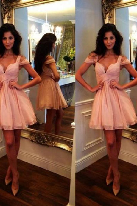 Pink homecoming dress, Off shoulder homecoming dress, short homecoming dresses, 2016 homecoming dress, short prom dresses, homecoming dress, CM987