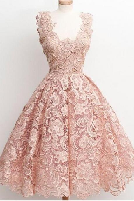 Peach lace homecoming dress, 2016 homecoming dress, short homecoming dresses, 2016 homecoming dress, short prom dresses, homecoming dress, CM1092