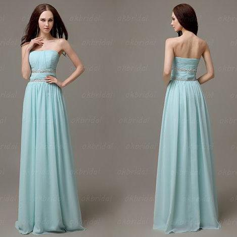Tiffany blue dresses, dresses for prom, tiffany blue prom dresses, light blue dresses, long prom dresses, cheap bridesmaid dress, CM107