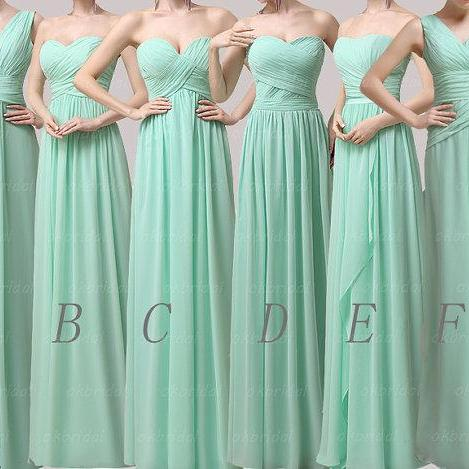 Girls bridesmaid dresses, green bridesmaid dress, cheap bridesmaid dress, long bridesmaid dress, long prom dress, dresses for wedding, CM090