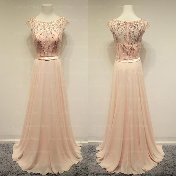 Blush pink prom dresses, cheap prom dresses, long prom dresses, affordable prom dresses, dresses for prom, CM092