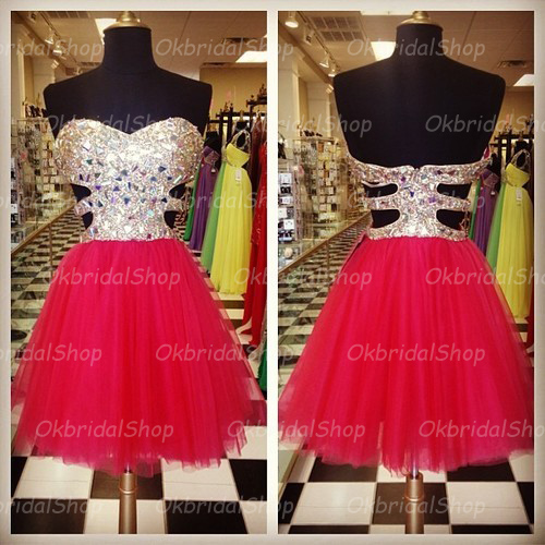 short tulle prom dresses, red prom dresses, 2015 prom dresses, black prom dresses, dresses for prom, CM177