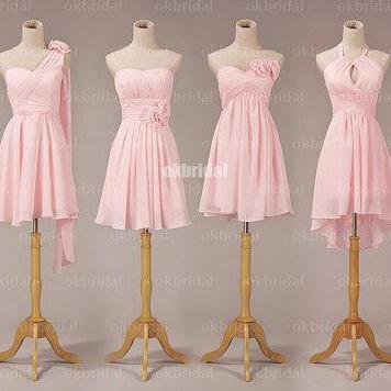Pink Bridesmaid Dresses, Mismatched Bridesmaid Dresses, short Bridesmaid Dresses, cheap Bridesmaid Dresses, CM474