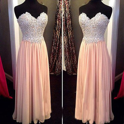 Pink prom dresses, pearls prom dress, long prom dresses, cheap prom dresses, 2016 prom dresses, custom prom dresses, dresses for prom, CM663