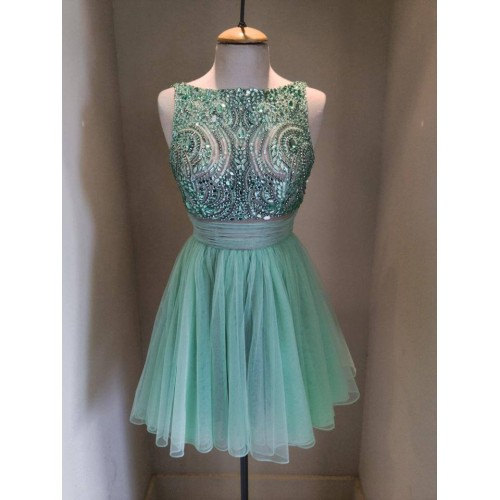 Green Tulle homecoming dress, Sexy homecoming dress, short homecoming dresses, 2016 homecoming dress, short prom dresses, homecoming dress, CM953