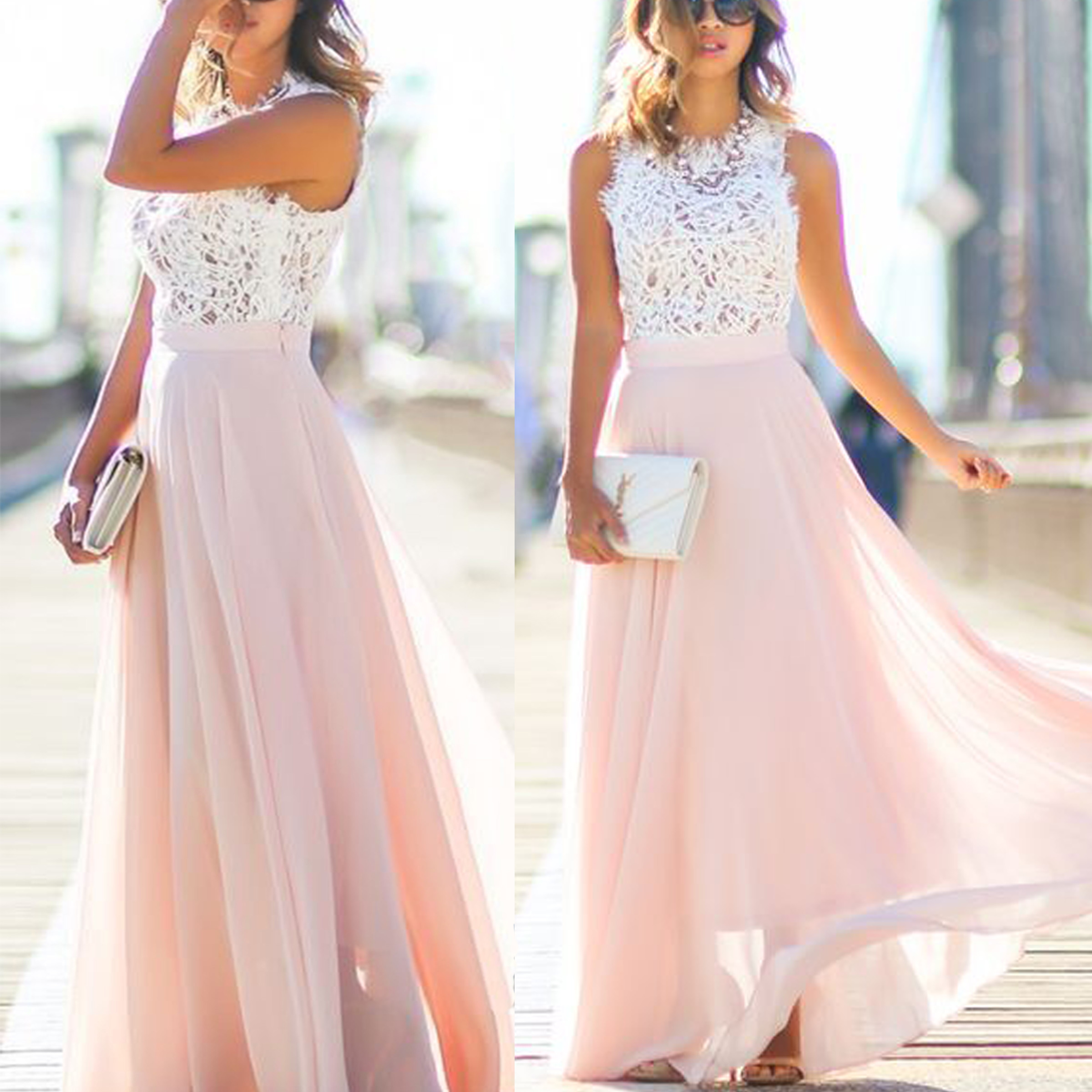 Blush Pink Lace Prom Dress 2016 Long Prom Dress Lace Prom Dress